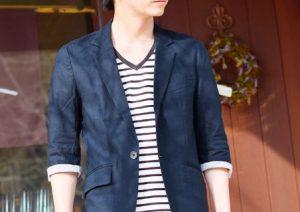 夏の街コン用の七分袖麻ジャケット