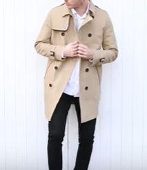 ジャケットの上からコート
