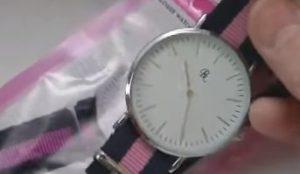 街コンに100均の腕時計