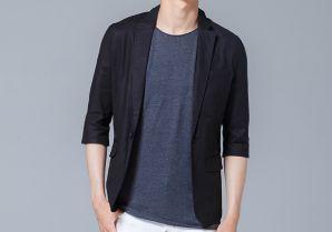 七分袖ジャケットで8月の街コン用の服装