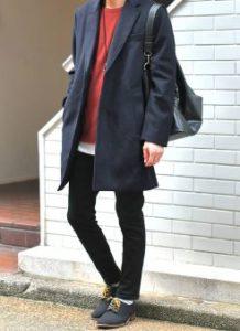 12月の街コン用チェスターコートファッション