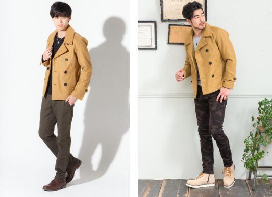 キャメル色のメルトンPコートで2月の街コンでモテる男の服装を作る