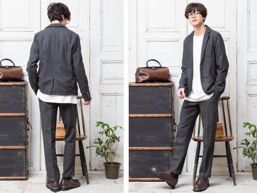 2月の街コン用の男の服装でセットアップコーデ
