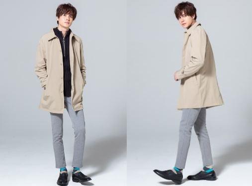肌寒い3月の街コン用の男の服装はステンコートとハーフZIPセーターがおすすめ