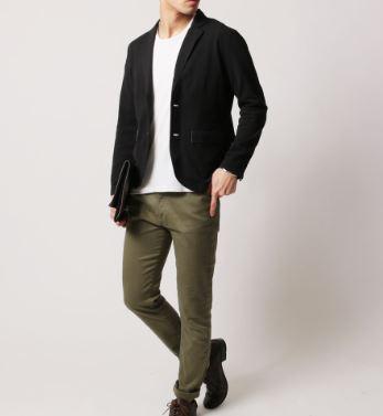 街コン用の男の服装に速乾性素材のジャケット