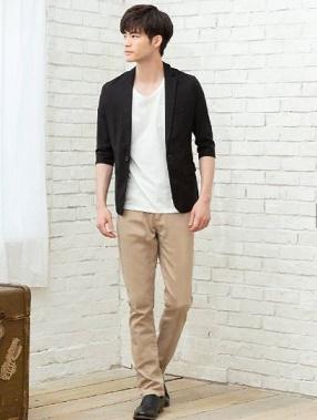 9月の街コンにおすすめの七分袖ジャケットを使ったメンズファッション